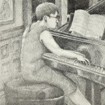The Accompanist, 2013, Graphite on Paper
