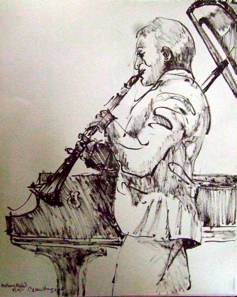 Anthony McGill, 2011, Ink on Paper