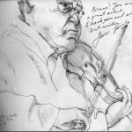Jaime Laredo, 2012, Ink on Paper