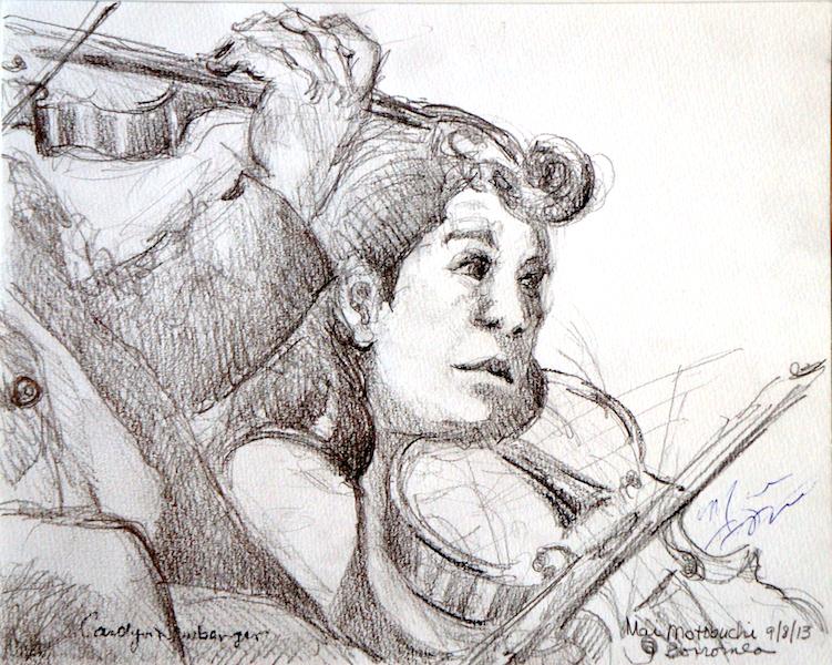 Mai Motobuchi, Viola, 2013, Graphite on Paper