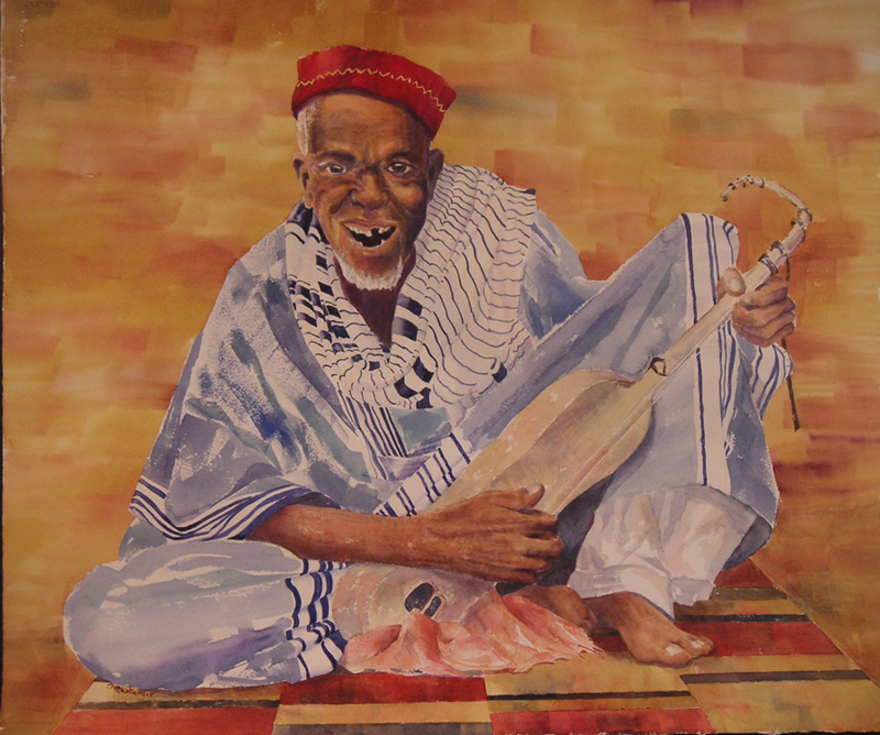 N'Goni Master, 2010, Watercolor