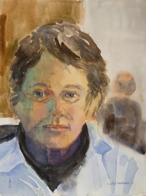 Self Portrait, 2012, Watercolor