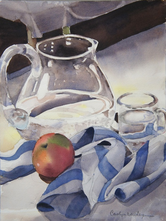 Still Life with Apple, 2012, Watercolor