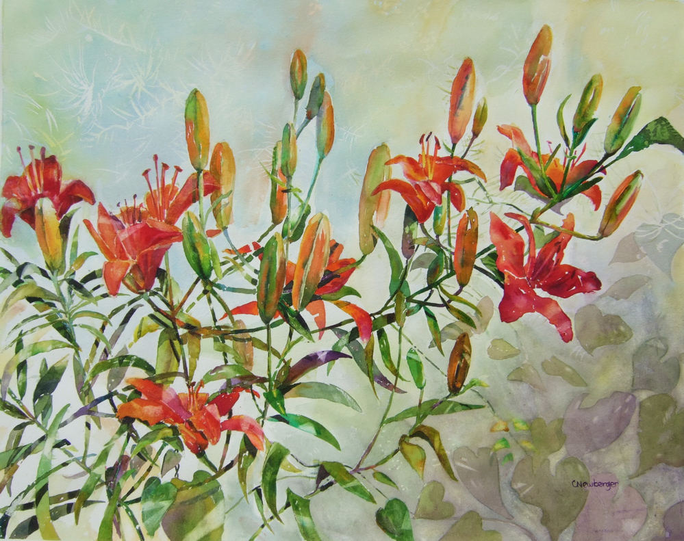 Tiger Lilies, 2010, Watercolor