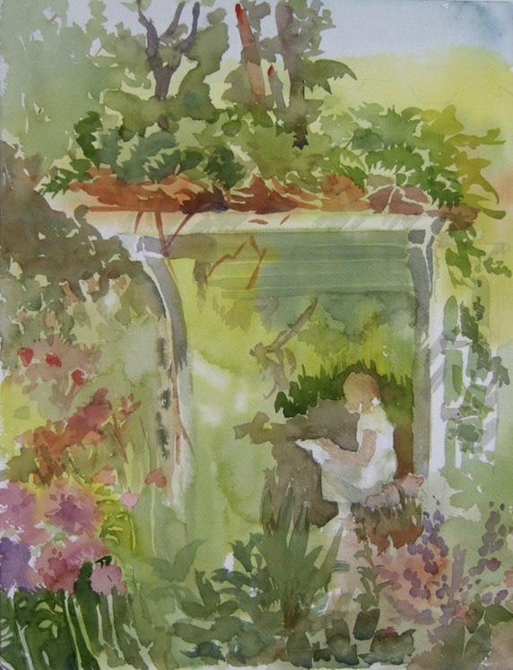 Under the Arbor, 2012, Watercolor